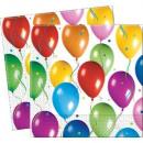 grossiste Linge de table: Ballons Fiesta -  Serviette en papier 2-couches 33x