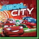 Cars Neon -  Papierserviette  2-lagig 33x33cm ...