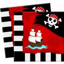 grossiste Maison et cuisine: retour de Pirate -  serviettes en papier de 33x33cm