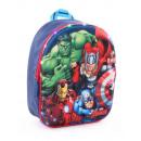 Großhandel Taschen: We are the Avengers Rucksack 3D mit LED
