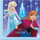 wholesale Household Goods: frozen Snowflakes  - 2LG. Paper napkins 33x33cm