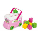 Baby Minnie sorting bus with 9 colorful shapes