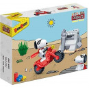 BanBao 7533 - Building Kit, Snoopy Motorcycle Stun