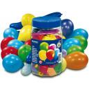 100 balonów: figury i różne kolory cyny