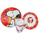 Großhandel Haushaltswaren: Frühstückset 3 teilig Snoopy Peanuts