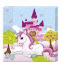 groothandel Huishoudwaren: Unicorn - papieren servetten 33x33cm