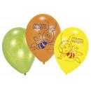 6 Luftballons Latex Biene Maja 23 cm Maya