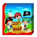 grossiste Maison et cuisine: Petits Pirates -  2LG. Serviettes en papier 33x33cm