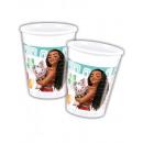 grossiste Articles de fête: tasses en  plastique 200ml - Vaiana Moana