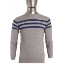 wholesale Pullover & Sweatshirts: JUMPER ROUND NECK  STRIPED MEN BY TONY MORO JJ7111