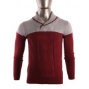 wholesale Pullover & Sweatshirts: SHAWL NECK JUMPER  WITH COLOR BLOCK A TWISTED