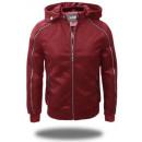 wholesale Coats & Jackets: LEATHER JACKET  FAKE HOOD MEN BY XFEEL XH8802