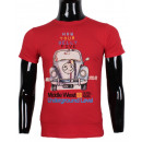 ingrosso Ingrosso Abbigliamento & Accessori: MAGLIETTA CON  STAMPA IN AUTO MAN LEEYO BM151
