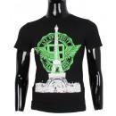 Großhandel Fashion & Accessoires: T-Shirt mit TOUR  EIFFEL DRUCK MAN B LEEYO