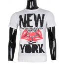 Großhandel Fashion & Accessoires: T-Shirt mit PRINT  NEW YORK MAN VON LEEYO BM15