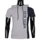 wholesale Fashion & Mode: TSHIRT HOODED MAN BY LEEYO BM1552