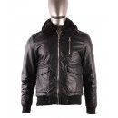 wholesale Coats & Jackets: LEATHER JACKET MAN  WITH FAKE MENTEX S186 N