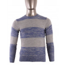 wholesale Pullover & Sweatshirts: JUMPER ROUND NECK STRIPED BICOLOUR MAN