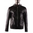 ingrosso Cappotti e giacche: GIACCA IN PELLE  CON CAPPUCCIO S291 imitazione MTX