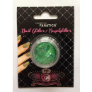 Nail Art - Nail Glitter, Green Moon