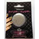 Nail Art -  Nagelglitter, 3D Perlen silber