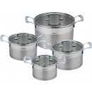 KINGHOFF pots set of 8 elements KH-1201