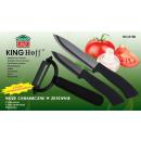 KINGHOFF ceramic knives with peeler