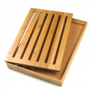 KINGHOFF bamboo cutting board + tray