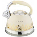KLAUSBERG kettle 2.8l cream induction gold pattern