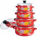 groothandel Potten & pannen: Klausberg  geëmailleerde potten set van 10
