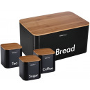 KINGHOFF bread container with a set of containers,