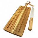 KASSEL chopping board & knife, made of acacia