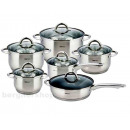 KINGHOFF set of pots with marble frying pan 12pcs