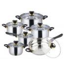 groothandel Potten & pannen: KINGHOFF 12 pc  pannenset met koekenpan