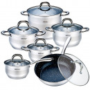 KINGHOFF, set of pots with marble pan 12pcs