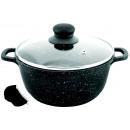 groothandel Potten & pannen: KINGHOFF pot  bekleed marmer, 5,5 l
