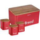wholesale Organisers & Storage: KINGHOFF bread  container with a set of containers,