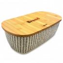 KASSEL Behälter für Brot, mit einem Bambusbrett