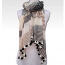 Reine Baumwolle  Schal mit Quasten High Quality