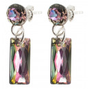 wholesale Jewelry & Watches: silver earrings  with swarovski Baguette V. Light