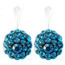 silver earrings  with swarovski Chaton Ball B. Zirc