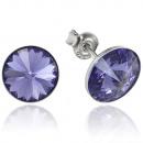 wholesale Jewelry & Watches: silver earrings with swarovski Rivoli Lavender