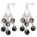 wholesale Jewelry & Watches: silver earrings  with swarovski Chandelier S.Night