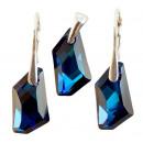 Silber mit  Swarovski De Art Bermuda Blue gesetzt