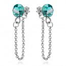 Silver Earrings with Swarovski Xirius Chain Zircon