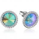 Silver Earrings with Swarovski Rivoli Paradise Sh