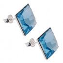 ingrosso Gioielli & Orologi: orecchini  d'argento con  Piazze di ...