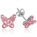 Silver earrings with swarovski Charon Butterfly