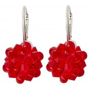 wholesale Jewelry & Watches: silver earrings with swarovski Sewed Lt. Siam