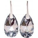 Großhandel Schmuck & Uhren: Silberohrringe mit Swarovski Pear CAL